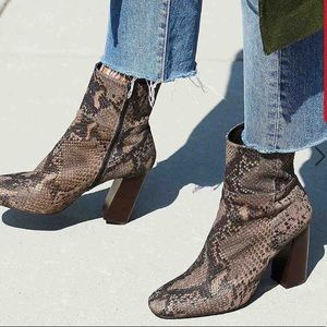 FREE PEOPLE Nolita Snake Embossed Leather Boot